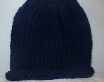 Adult Cap made of wool blue