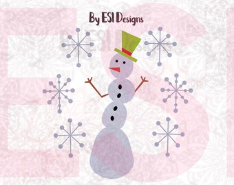 Snowman svg, Christmas svg files, winter svg files. SVG, DXF, EPS, cutting files, use with Silhouette Studio and Cricut Design space.