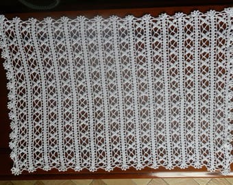CROCHET //GWEN// CURTAINS MADE IN A FINE PIN WHITE COLOR