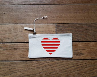 Zipper pouch for heart (S size)