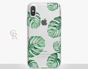 Leaves iPhone 8 Clear Case For iPhone 8 iPhone 8 Plus - iPhone X - iPhone 7 Plus - iPhone 6 - iPhone 6S - iPhone SE - Samsung S8 - iPhone 5