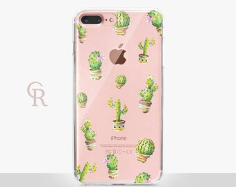 Cactus iPhone 8 Plus Clear Case For iPhone 8 iPhone 8 Plus - iPhone X - iPhone 7 Plus - iPhone 6 - iPhone 6S - iPhone SE - Samsung S8