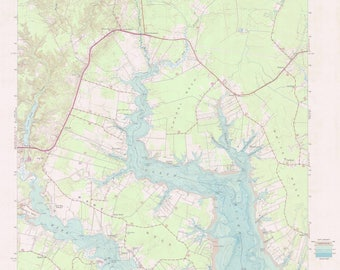 Ware Neck Map - Chesapeake Bay Chart - 1986