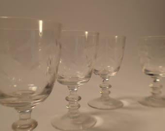 Mid-Century Cordial / Apertif Glasses, set of 6