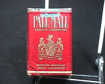 A Vintage Sealed Pack of Pall Mall Cigarettes from 1933 with the Military V on it's Back