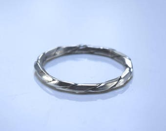 Sterling Silver Ring, Stacking Ring, Band, Wedding Band