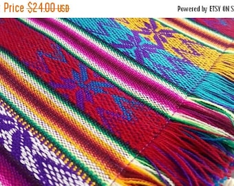 SUMMER SALE Ecuadorian Woven Cotton Textile Placemats