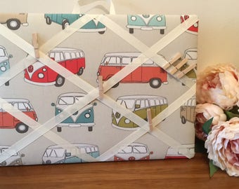 Memory Board, French Style, VW Camper, VW Bus, Campervan, Memoboard, Memo, pinboard, Message board, Messages, Notes, Noticeboard