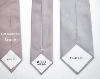 No#300,smoky grape,satin metallic purple grey,dusty plum lilac,rhapsody,mulberry,subtle metallic ties,groomsmen,men,mauve purple wedding tie