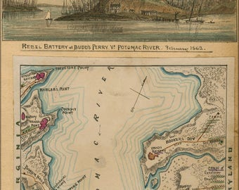 Poster, Many Sizes Available; Map Of Blockade Of Potomac River 1862