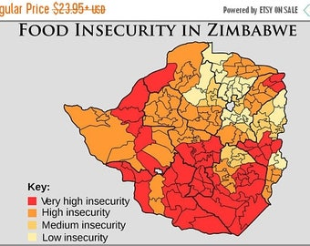 20% Off Sale - Poster, Many Sizes Available; Food Insecurity In Zimbabwe In June 2008