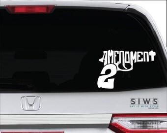 2nd Amendment Gun-Car Decal