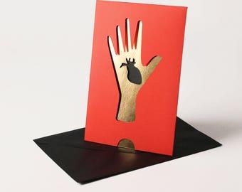 Carte en papier découpé faite à la main Idiomatic Claire Colin