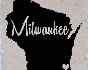 Milwaukee Wisconsin Coasters set of 4