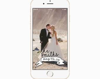 Mr & Mrs Smith Wedding Geofilter