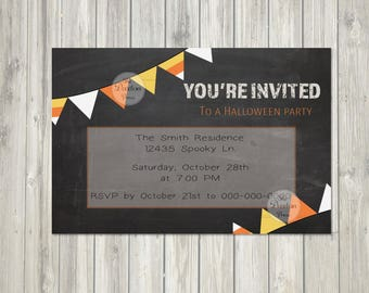 Halloween Candy Corn Party Invitation // DIGITAL-YOU PRINT
