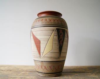 Vase Large, mid century vase, ceramic vase, MCM Pottery