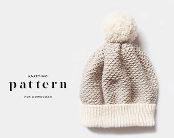 Knit Beanie Hat Pattern / Child Hat Knit Pattern / Knit Hat Pattern / Knit Beanie Pattern / Womens Knit Hat Pattern