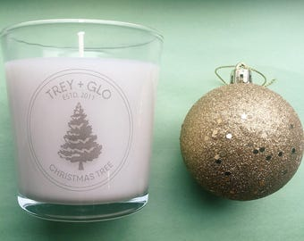 Christmas tree triple-scented soy candle (hand poured)
