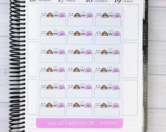Kawaii SKD Critter Box Stickers
