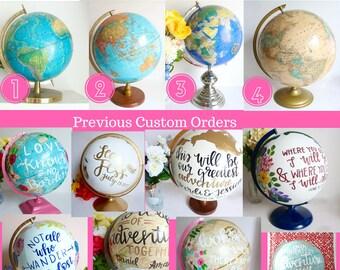 Custom Painted Globe, Large