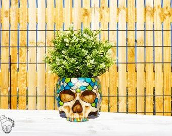 home 39 skull t te de mort skul lold school tattoo noir. Black Bedroom Furniture Sets. Home Design Ideas