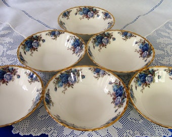 Immaculate ROYAL ALBERT Moonlight Rose Soup / Cereal Bowls