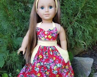 18 inch  Doll Clothes. Clothes - Fits American Girl Doll. Costume for doll  3 pcs.
