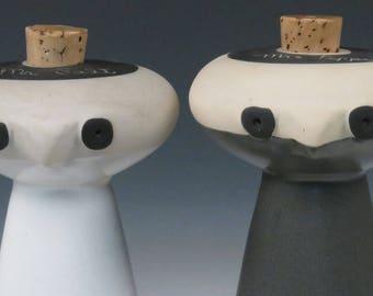 On Hold - vintage Bennington Potters Salt Pepper-David Gil