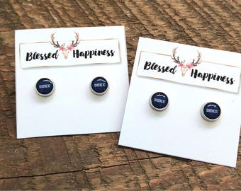 Small Duke Blue Devils Single Game Day Stud Earrings