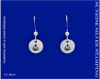 Sailboat Earrings, Sterling Silver, Sailboat Jewelry Silver Sailboat Earrings Boat Ship Sailing Jewelry Nautical Jewelry Silver Sailing Boat