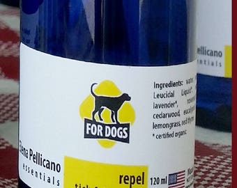 Dog Flea and Tick Spray for Dogs - Home Made - All Natural 4 fl oz