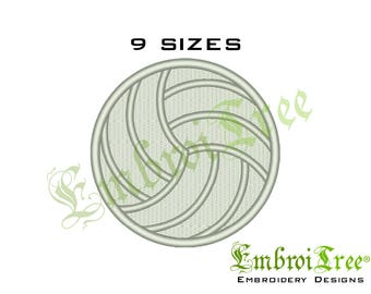 Volleyball Embroidery Design Machine Embroidery Volleyball Ball File Download Fill Design