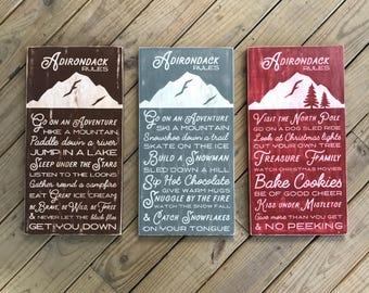Adirondack Rules Bundle - Adirondack Decor - Mountain Decor - Cabin Decor - Lake Decor - Wood Sign - Family Rules - Cabin Rules