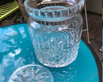waterford crystal jar and lid
