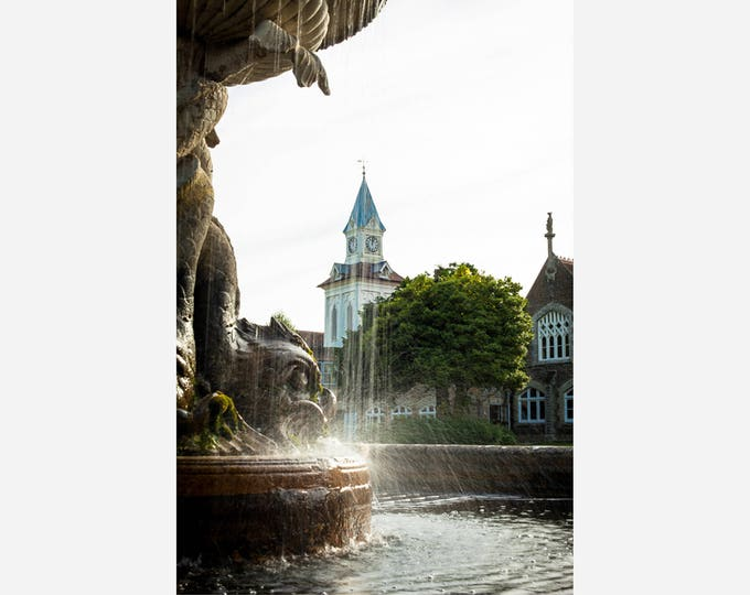 OAKLEY COURT FOUNTAIN | modern fine art photography blank note cards custom books interior wall decor affordable pictures –Rick Graves