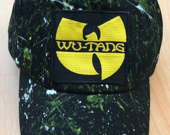 Wu splatter paint dad cap