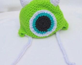Crochet Monster Beanie for Newborn