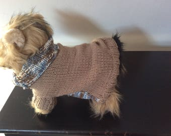 Wool Sweater for small dog, chihuahua, Yorkshire french .bulldog for about 2 kg 500 to 3 kg500