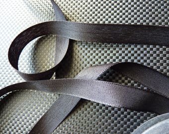 Old Ribbon in satin black 3 m x 1.5 cm