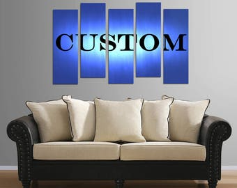 Custom 5 piece plastic mounted print