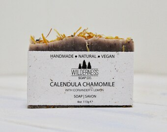 SOLD OUT -- Calendula Chamomile Soap, Natural Soap, Vegan Soap, Palm Free Soap, Handmade Soap, Cold Process Soap