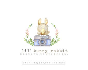 Logo Design-Bunny Logo-Small Business Logo-Photography Logo