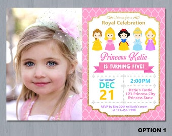 Disney Princess Invitation, Princess Birthday Invitation, Princess Invitation, Disney Princess Birthday