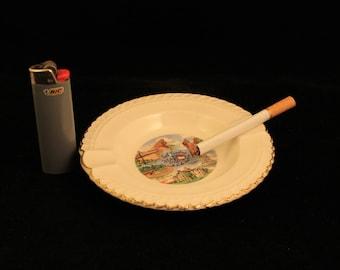 Vintage North Carolina Ashtray Ceramic Travel Souvenir Gift Smoker
