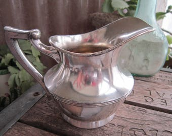 Poole Silver Creamer Vintage 1950's Quadruple Silver Plate #2955 Tea Coffee Serving Replacement Piece