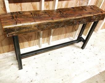 Barn Beam Sofa Table