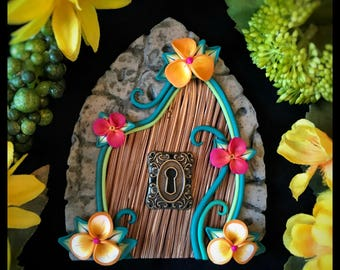 Polymer Clay Yellow & Pink Fairy Door