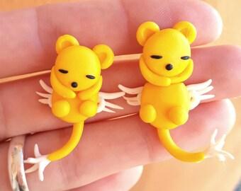 Kero Clinging Earrings Keroberos Sakura Card Captor kawaii