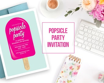 POPSICLE BIRTHDAY Invitation, Popsicle Party, Popsicle Birthday, Popsicle Party Invitation, Popsicle Birthday Party, Popsicle Invite